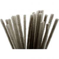 Piperensere, L: 30 cm, tykkelse 9 mm, grå, 25 stk./ 1 pk.