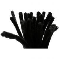 Piperensere, L: 30 cm, tykkelse 9 mm, svart, 25 stk./ 1 pk.
