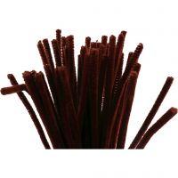 Piperensere, L: 30 cm, tykkelse 6 mm, gml. rød, 50 stk./ 1 pk.