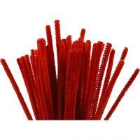 Piperensere, L: 30 cm, tykkelse 6 mm, rød, 50 stk./ 1 pk.