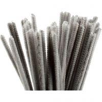 Piperensere, L: 30 cm, tykkelse 6 mm, grå, 50 stk./ 1 pk.