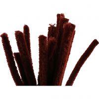 Piperensere, L: 30 cm, tykkelse 15 mm, gml. rød, 15 stk./ 1 pk.