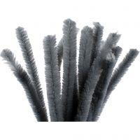 Piperensere, L: 30 cm, tykkelse 15 mm, grå, 15 stk./ 1 pk.