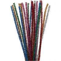 Piperensere, L: 30 cm, tykkelse 6 mm, glitter, sterke farger, 24 stk./ 1 pk.