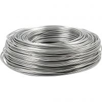 Bonzaitråd, rund, tykkelse 2 mm, sølv, 100 m/ 1 rl.