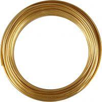 Bonzaitråd, rund, tykkelse 3 mm, gull, 29 m/ 1 rl.