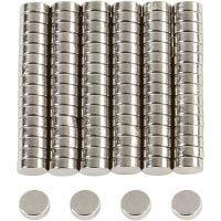 Powermagnet, dia. 5 mm, tykkelse 2 mm, 100 stk./ 1 pk.