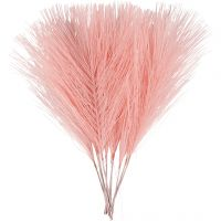 Kunstige fjær, L: 15 cm, B: 8 cm, lys rød, 10 stk./ 1 pk.