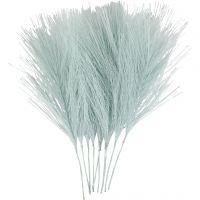 Kunstige fjær, L: 15 cm, B: 8 cm, lys blå, 10 stk./ 1 pk.