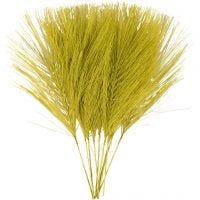 Kunstige fjær, L: 15 cm, B: 8 cm, grønn, 10 stk./ 1 pk.
