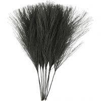 Kunstige fjær, L: 15 cm, B: 8 cm, svart, 10 stk./ 1 pk.