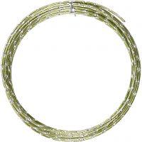 Bonzaitråd, diamond-cut, tykkelse 2 mm, grønn, 7 m/ 1 rl.