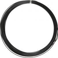 Bonzaitråd, rund, tykkelse 1 mm, svart, 16 m/ 1 rl.