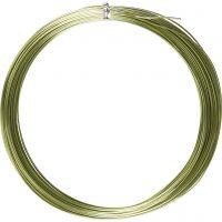 Bonzaitråd, rund, tykkelse 1 mm, grønn, 16 m/ 1 rl.