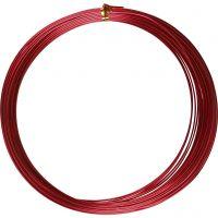 Bonzaitråd, rund, tykkelse 1 mm, rød, 16 m/ 1 rl.