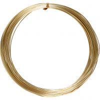Bonzaitråd, rund, tykkelse 1 mm, gull, 16 m/ 1 rl.