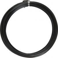 Bonzaitråd, rund, tykkelse 2 mm, svart, 10 m/ 1 rl.