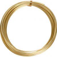 Bonzaitråd, rund, tykkelse 2 mm, gull, 10 m/ 1 rl.
