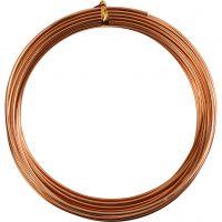 Bonzaitråd, rund, tykkelse 2 mm, kobber, 10 m/ 1 rl.