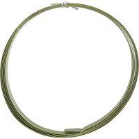 Bonzaitråd, flat, B: 15 mm, tykkelse 0,5 mm, grønn, 2 m/ 1 rl.