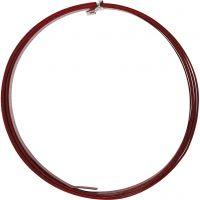 Bonzaitråd, flat, B: 15 mm, tykkelse 0,5 mm, rød, 2 m/ 1 rl.