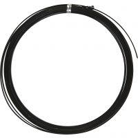Bonzaitråd, flat, B: 3,5 mm, tykkelse 0,5 mm, svart, 4,5 m/ 1 rl.