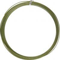 Bonzaitråd, flat, B: 3,5 mm, tykkelse 0,5 mm, grønn, 4,5 m/ 1 rl.