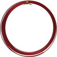 Bonzaitråd, flat, B: 3,5 mm, tykkelse 0,5 mm, rød, 4,5 m/ 1 rl.
