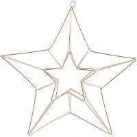 Metalloppheng, stjerne, str. 34x30 cm, messing, 1 stk.