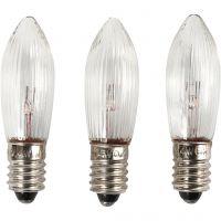 LED-pærer, H: 45 mm, dia. 15 mm, 3 stk./ 1 pk.