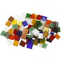 Glassmosaikk, str. 10x10 mm, 454 g/ 1 pk.