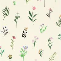 Gavepapir, flora, B: 35 cm, 100 m/ 1 rl.