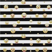 Gavepapir smiley, 100 m/ 1 rl.