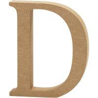 Bokstav, D, H: 13 cm, tykkelse 2 cm, 1 stk.