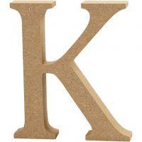 Bokstav, K, H: 13 cm, tykkelse 2 cm, 1 stk.