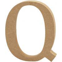 Bokstav, Q, H: 13 cm, tykkelse 2 cm, 1 stk.