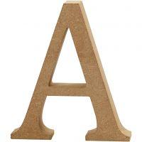Bokstav, A, H: 8 cm, tykkelse 1,5 cm, 1 stk.