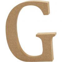 Bokstav, G, H: 8 cm, tykkelse 1,5 cm, 1 stk.