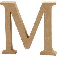 Bokstav, M, H: 8 cm, tykkelse 1,5 cm, 1 stk.