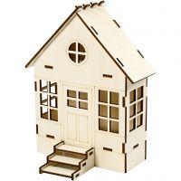 Sett sammen selv hus, H: 24 cm, dybde 6(12,5) cm, B: 19 cm, 1 stk.