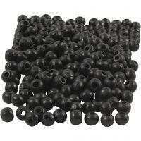 Treperler, dia. 5 mm, hullstr. 1,5 mm, svart, 6 g/ 1 pk., 150 stk.