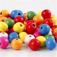 Treperlemix, dia. 10 mm, hullstr. 2,5-3 mm, ass. farger, 500 g/ 1 pose