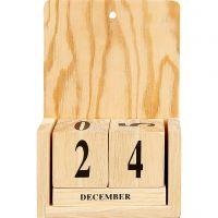 Kalender med datoterninger, str. 13x5,5x19,2 cm, 1 sett