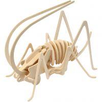 3D Pusslespill, gresshoppe, str. 22,5x15x18 cm, 1 stk.