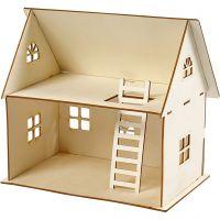 Sett-sammen-selv dukkehus, H: 25 cm, str. 18x27 cm, 1 stk.