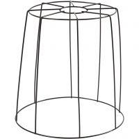 Lampeskjerm, H: 20 cm, dia. 15,5-20 cm, svart, 1 stk.