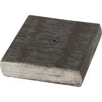 Metallfot, str. 4x4x1 cm, hullstr. 2 mm, 1 stk.