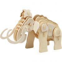 3D konstruksjonsfigur, mammut, str. 19x8,5x11 cm, 1 stk.