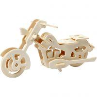 3D konstruksjonsfigur, motorsykkel, str. 19x9x9 cm, 1 stk.