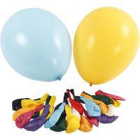 Ballonger, dia. 43 cm, ass. farger, 50 stk./ 1 pk.